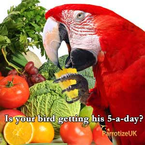 Is your bird getting his 5-a-day?